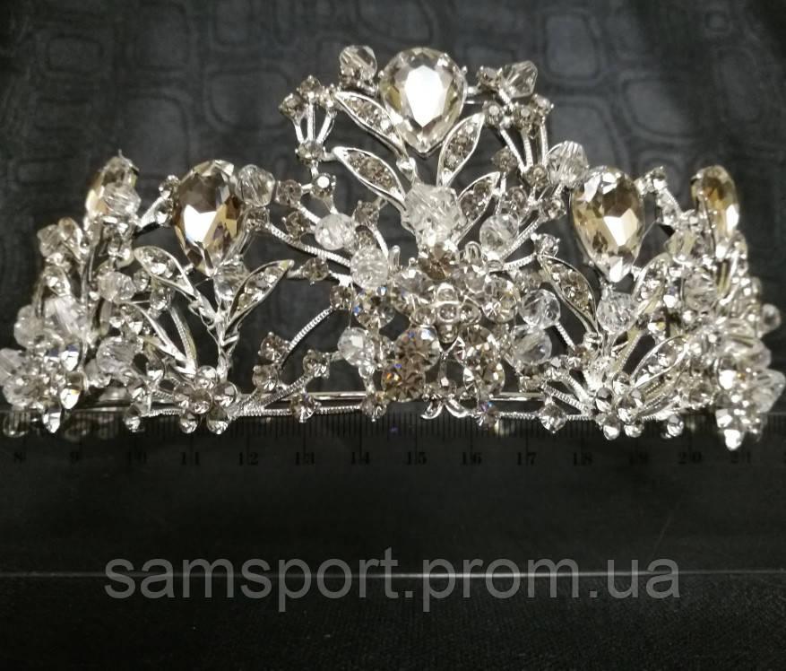 244 Кристаллы диадемы стеклярус - короны. Эксклюзивные свадебные украшения оптом.