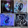 Гірлянда ЯЛИНКА 200 LED на чорному проводі, біла, фото 3