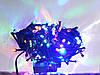 Гирлянда  ЛИЗА  100 LED5mm  на черном проводе, синяя, фото 2