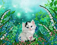 """Схема для вышивки бисером  """"Котёнок"""""""