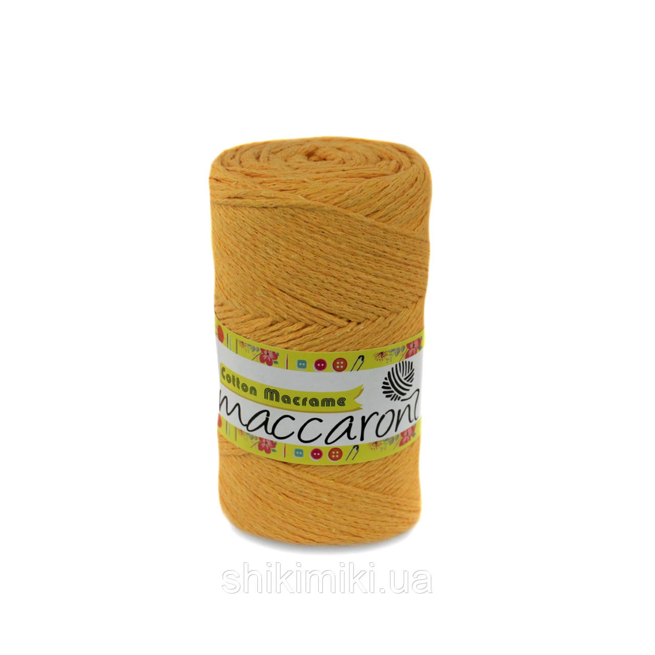 Трикотажный шнур Cotton Macrame, цвет горчичный