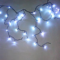 Светодиодная гирлянда Бахрома Flash, 3х0.6 м, 2,2мм Синий/Черный Каучук, фото 1