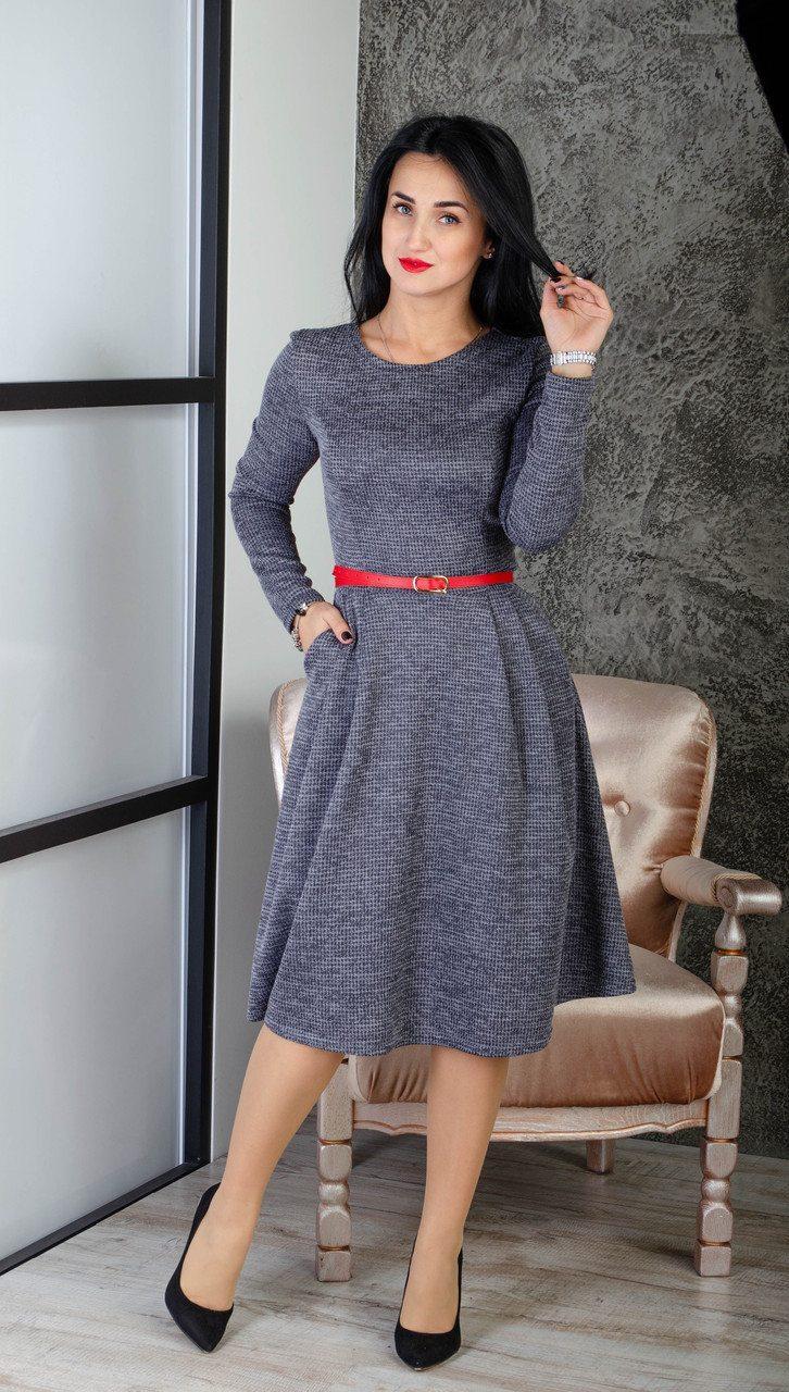 8eecee25657 Повседневное женское платье с пышной юбкой размер 44