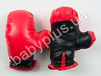Боксерские перчатки 2шт, ПВХ, детские, в кульке