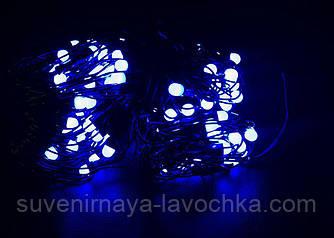 Гірлянда СІТКА Ягідка 120 LED-8mm 1,5 m*1,5 m на чорному проводі синя
