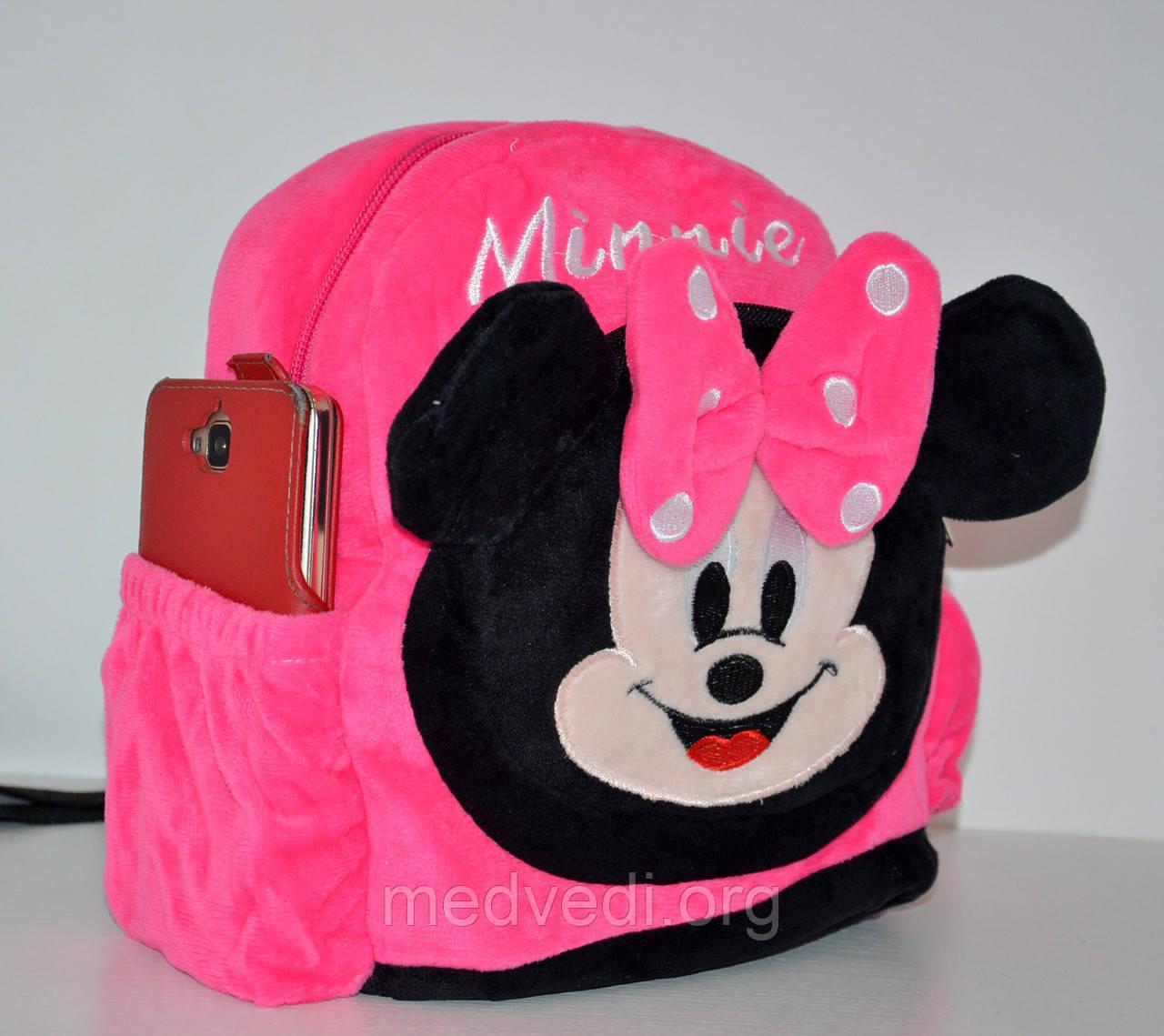 Детский розовый рюкзак Минни Маус, для ребенка, в садик