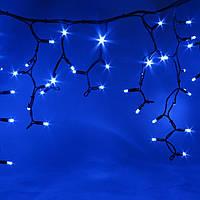 Светодиодная гирлянда Icicle Play Light 5х0.5м 300LED Синий/Черный Каучук, фото 1