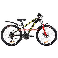 Подростковый велосипеды Formula Dakar DD 24 дюйма черно-красный