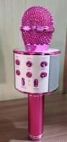 Микрофон караоке беспроводной, сопряжение по Bluetooth, цвет розовый