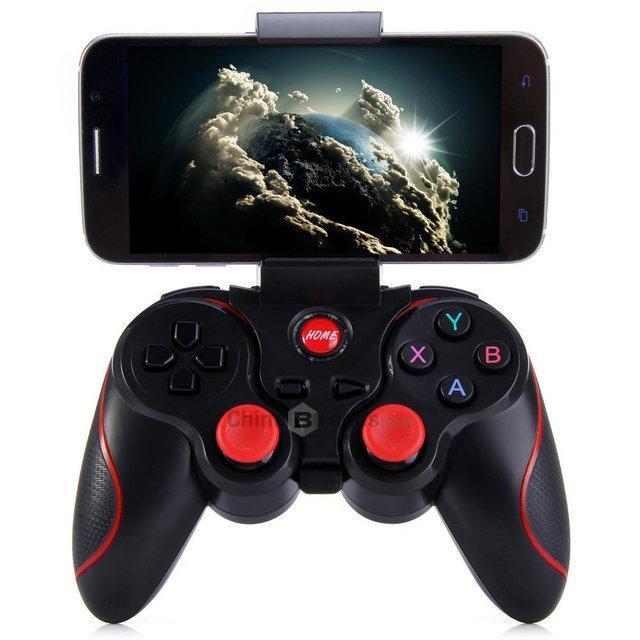 Джойстик Terios T3 для смартфонов Bluetooth геймпад Terios T3 для Android, IOS, PC с крепениям для телефону