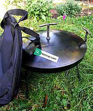 Сковорода с крышкой 40 см в диаметре с крышкой, фото 3