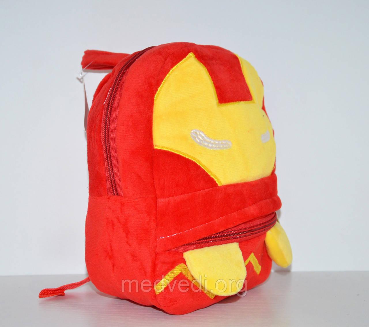 Детский красно-желтый плюшевый рюкзак