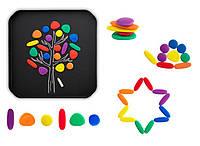 Радужная галька для малышей с карточками EDX education (13209)