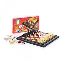 Шахматы 9863, 8 в 1, пластмассовые, в кор-ке, 29-15-3, 5см