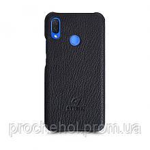 Кожаная накладка Stenk Cover для Huawei P Smart Plus Черный