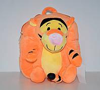 Детский оранжевый плюшевый рюкзак-игрушка Тигра