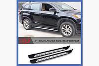 Пороги Оригинальный дизайн (2 шт, алюминий) - Toyota Highlander 2014+ гг.