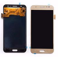 Дисплей (экран) для Samsung J700H, DS Galaxy J7 (2015), J700F + тачскрин, золотой, переклеено стекло