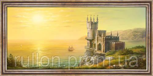 Картина YS-Art CA026-23 33x70 (Пейзаж, коричневая рамка)