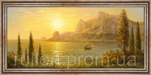 Картина YS-Art CA027-22 33x70 (Пейзаж, коричневая рамка)