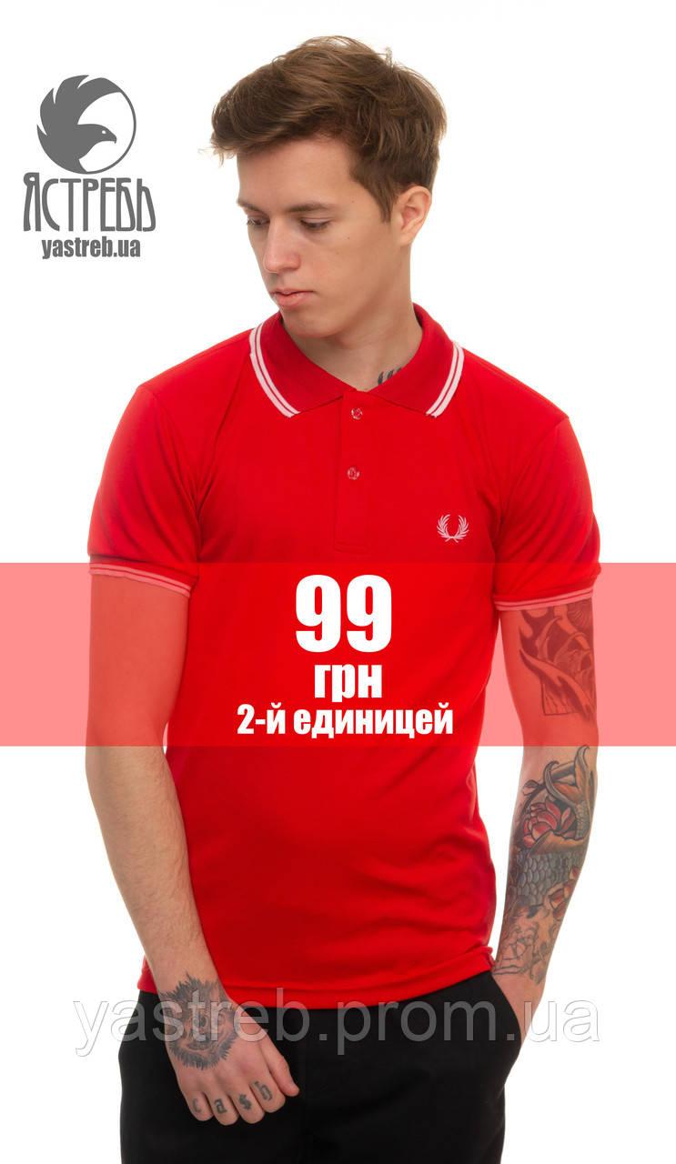 """Футболка Поло """"Венок"""" Красный, фото 1"""