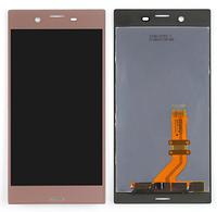 Дисплей (екран) для Sony F8331 Xperia XZ/F8332 + тачскрін, рожевий, оригінал