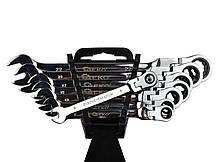 Набор ключей комбинированных шарнирно-трещоточных 8 предметов GEKO G10338