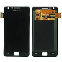 Дисплейный модуль (дисплей и сенсор) для Samsung Galaxy S2 i9100, черный, оригинал
