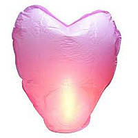 Летающие небесные фонарики в виде сердца (88*50*35 см,3 цветов микс).