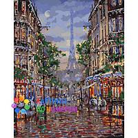 """Картины по номерам 40x50 """"Улицами вечернего Парижа"""" КНО3516"""