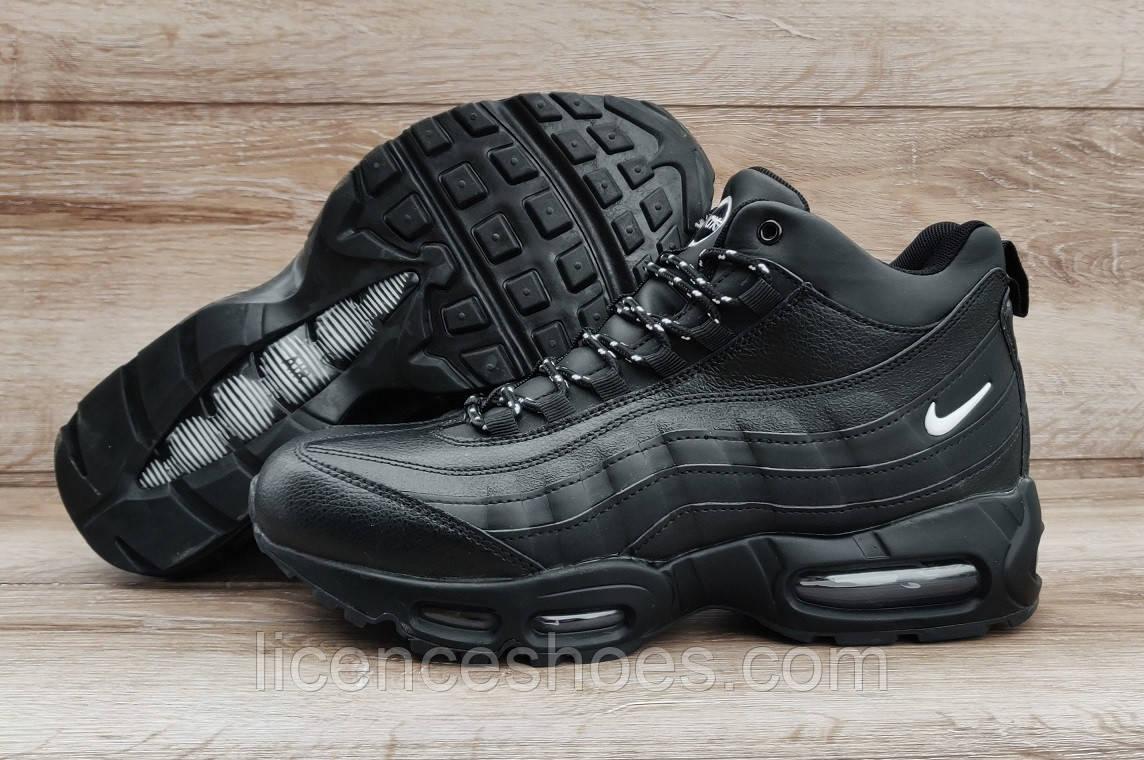 Подростковые, детские зимние кроссовки Nike Air Max 95 Black. Последняя пара 37 на ногу 23-23.5см