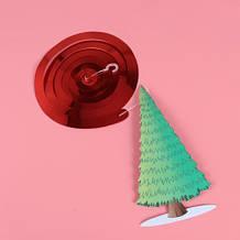 """Новогодняя гирлянда """"Елка"""" - 1шт., размер елки 16*8см, картон, фольга"""