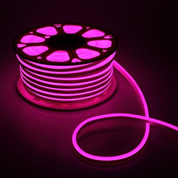 Світлодіодний неон AVT 220v рожевий IP65
