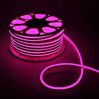 Светодиодный неон AVT 220v розовый IP65