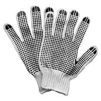 Перчатки трикотажные с точечным ПВХ покрытием (манжет бесшовные) Sigma (9221101)