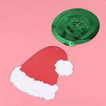 Новорічна гірлянда - 1шт., розмір шапки 13*15см, картон, фольга