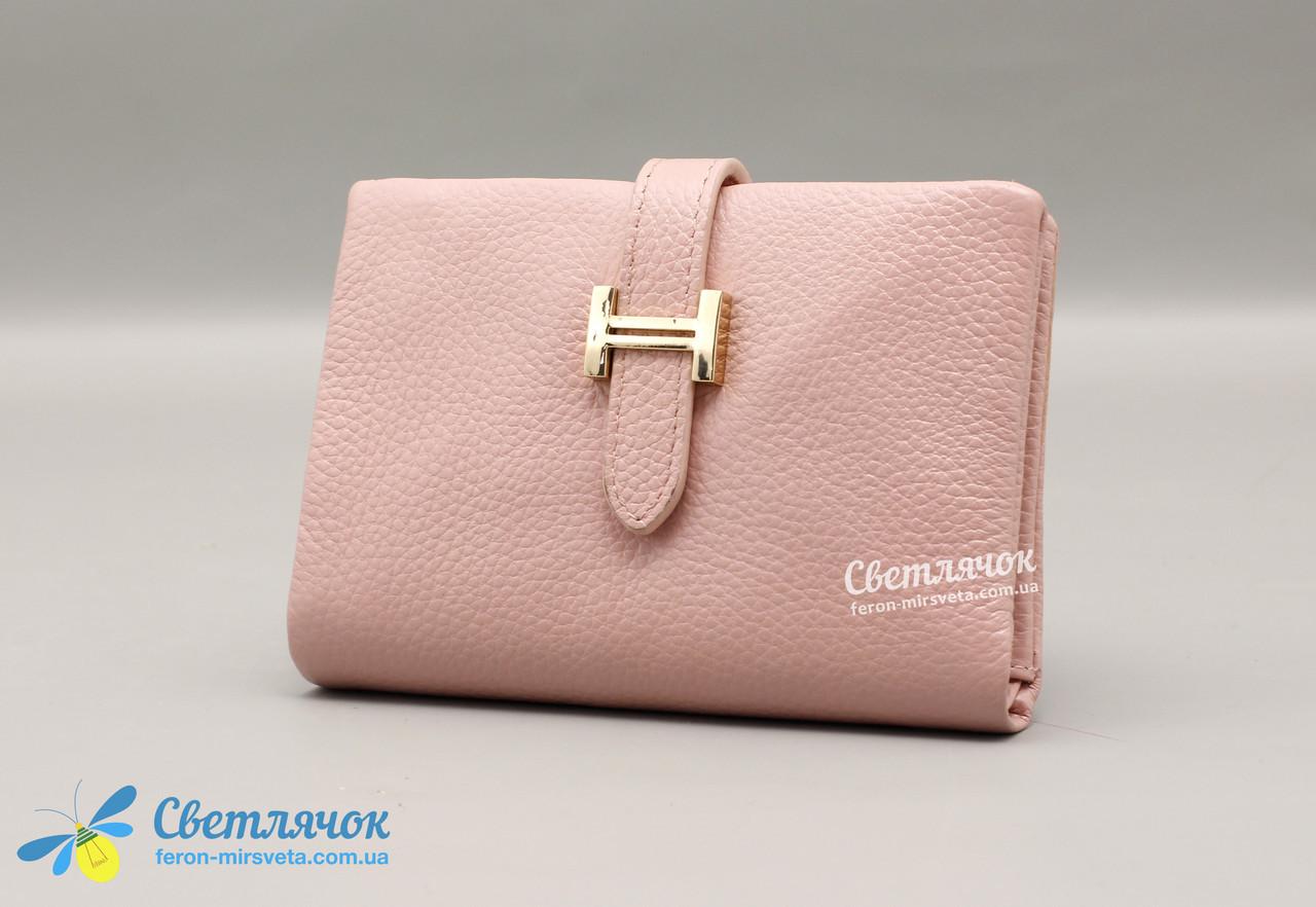 Кошелек женский кожаный маленький розовый MAYSINCE