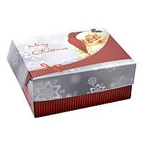 Коробка новогодняя подарочная самосборная 13см х16см высота 8см. Упаковка для новогодних подарков