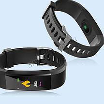 Фитнес-браслет Smart Band id115 Plus с цветным 0,96 дюймовым экраном (Черный), фото 3