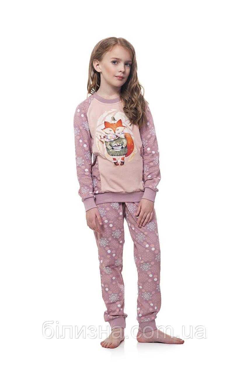 """Пижама для девочки утепленная Ellen 034/001 """"Лисичка"""" (рост 116)"""