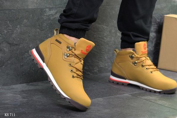 Зимние ботинки Timberland (рыжие)