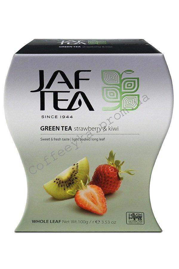 Чай зелёный Jaf Strawberry Kiwi  Клубника Киви 100 г.