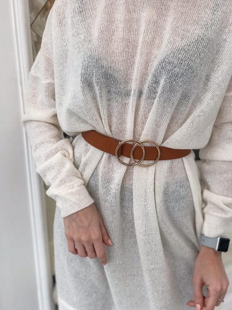 25c09a9fec0 Женское белое теплое платье туника из тонкой вязки миди длины