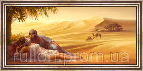 Картина YS-Art CA031-22 Женщина в пустыне 33x70 (Пейзаж, коричневая рамка)