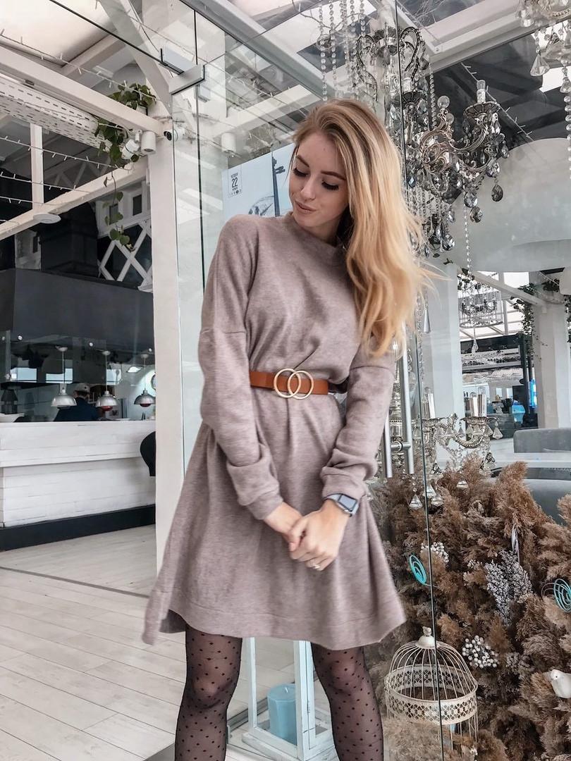 ea53c29eecc Женское теплое платье оверсайз миди длины - Супермаркет одежды  Modamart.com.ua в Одессе
