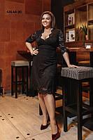 Гипюровое платье женское батал 428 АА (Б) Код:822999600, фото 1