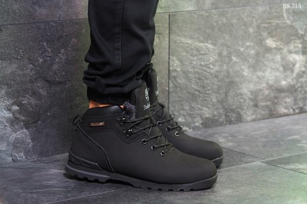 Зимние ботинки Timberland (черные нубук)