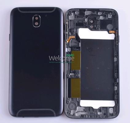 Задняя крышка Samsung J730 Galaxy J7 (2017) black, сменная панель самсунг, фото 2