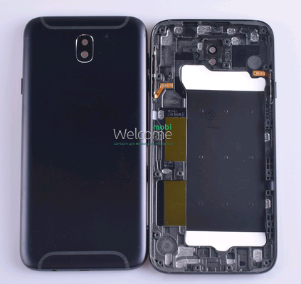 Задняя крышка Samsung J730 Galaxy J7 (2017) black, сменная панель самсунг
