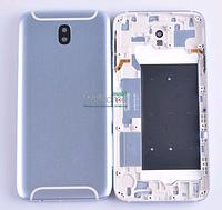 Задняя крышка Samsung J730 Galaxy J7 (2017) blue, сменная панель самсунг